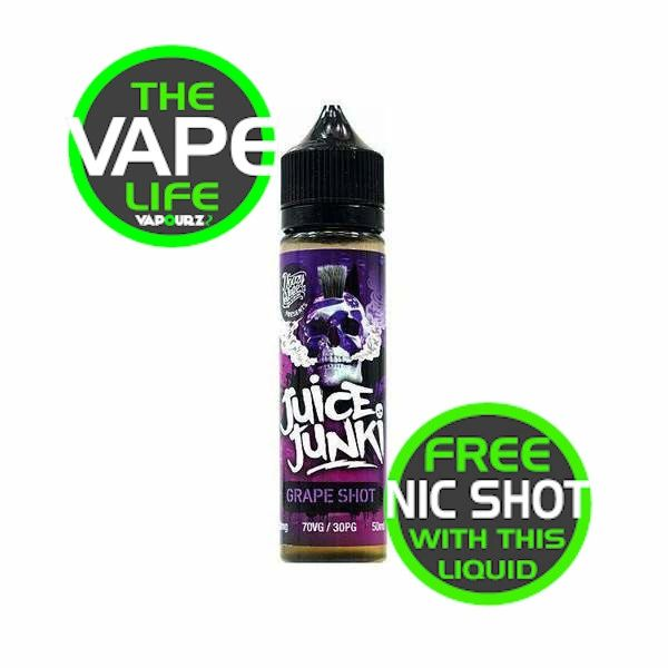 Juice Junkie Grape Shot 50ml + Nic Shot