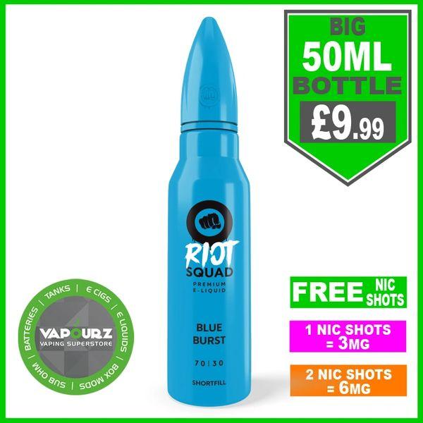 Riot squad blue burst 50ml + FREE Nic shots