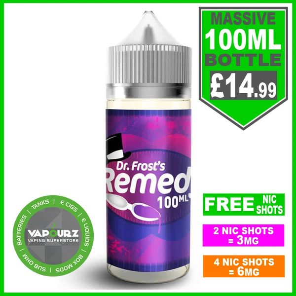 Dr Frost Remedy 100ml + FREE Nic shots