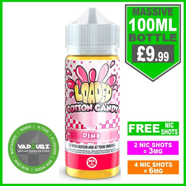 Loaded Pink Cotton Candy 100ml