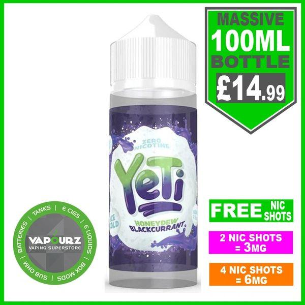 Yeti Honeydew Blackcurrant 100ml & Free Nic Shots