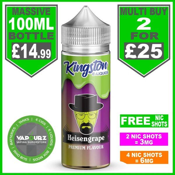 Heisengrape Kingston 100ml & Free Nic Shots