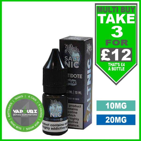 Ruthless Antidote On Ice Nic Salts 10ml