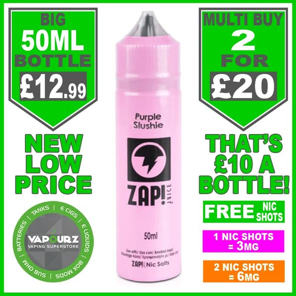 Zap Juice Purple Slushie 50ml with Free Nic Shots