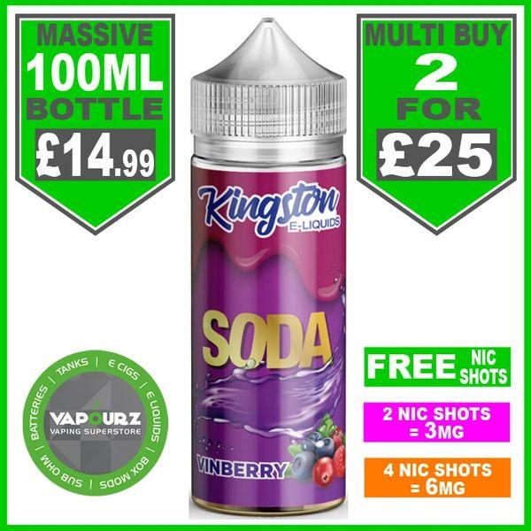 Vinberry Soda Kingston 100ml & Free Nic Shots
