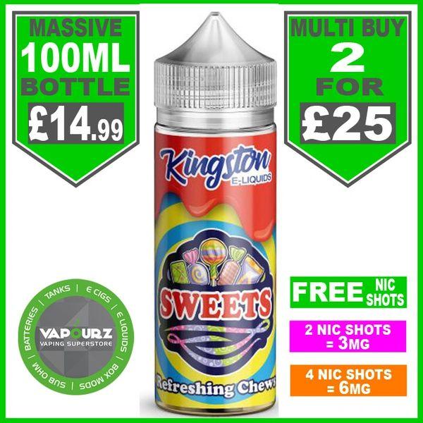 Refreshing Chews Sweets Kingston 100ml & Free Nic Shots