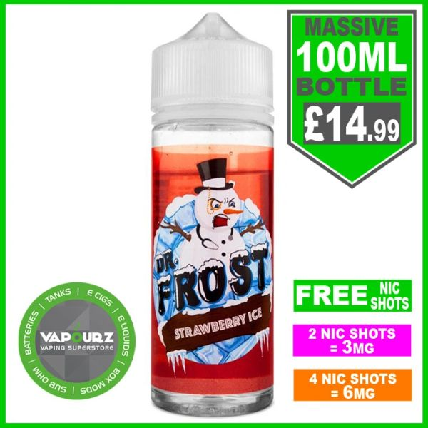Dr Frost Strawberry Ice100ml + FREE Nic shots
