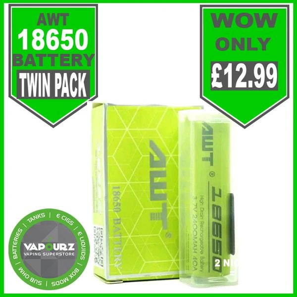 AWT 18650 Battery Twin Pack