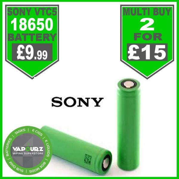 SONY VTC5 18650 2100MAH 30 amp flat top Battery