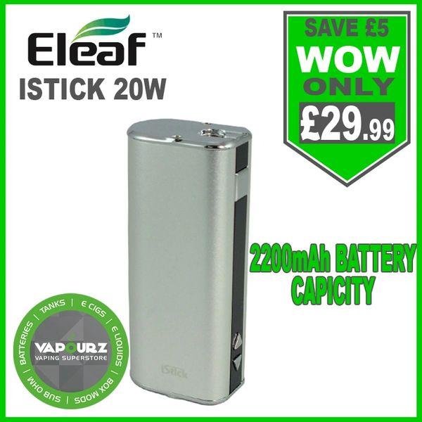 Eleaf Istick 20W Battery Mod Silver
