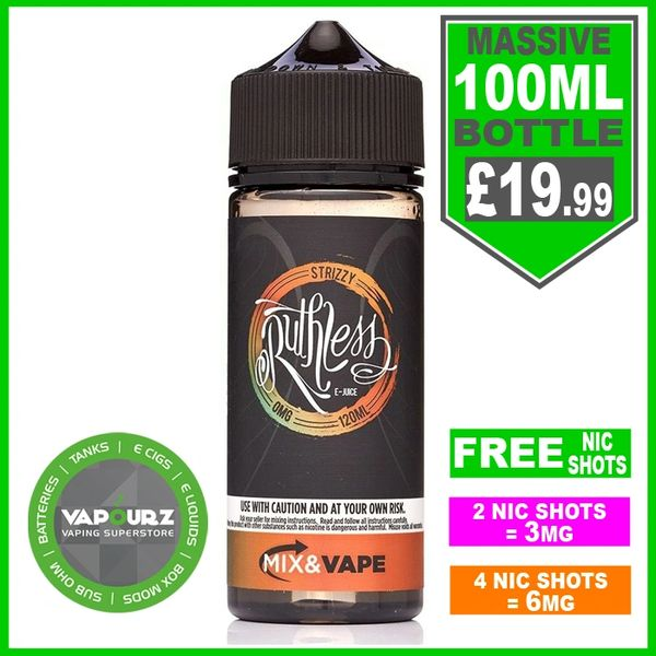 Ruthless Strizzy 100ML + Free Nic shots