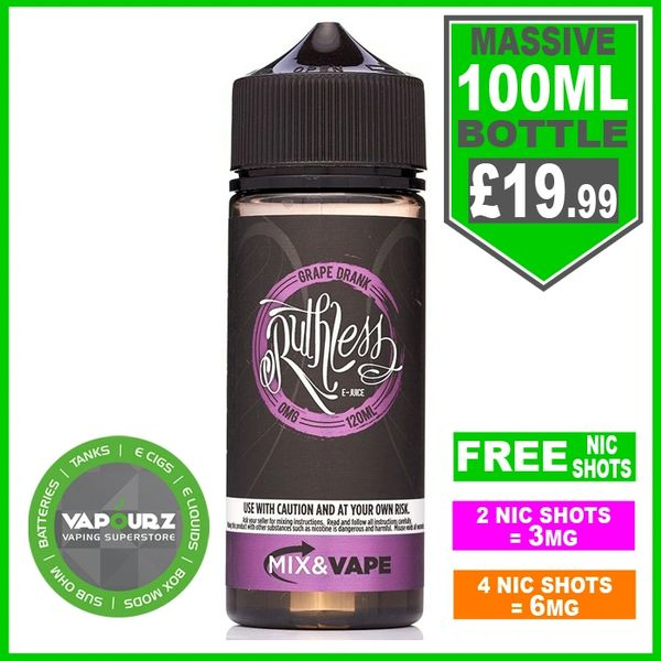 Ruthless Grape Drank 100ml + Free Nic shots
