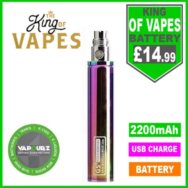 The King Of Vapes EGO-11 2200mAh Battery Rainbow