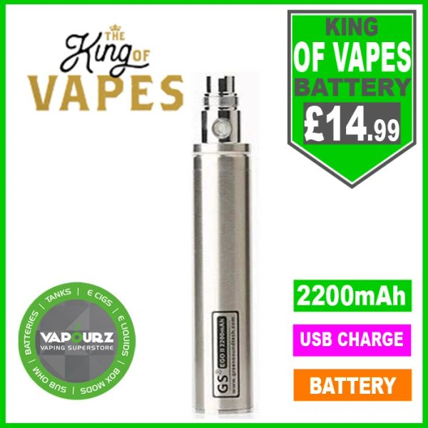 The King Of Vapes EGO-11 2200mAh Battery Silver
