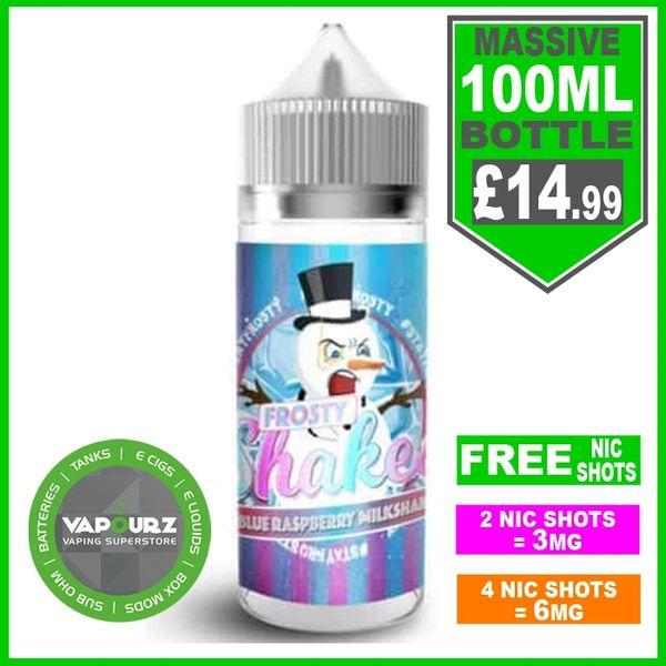Dr Frost Blue raspberry milkshake 100ml + FREE Nic shots