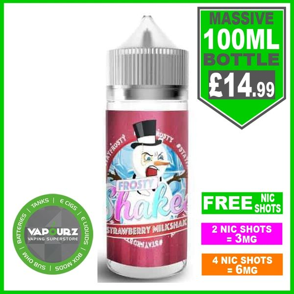 Dr Frost Strawberry milkshake 100ml + FREE Nic shots