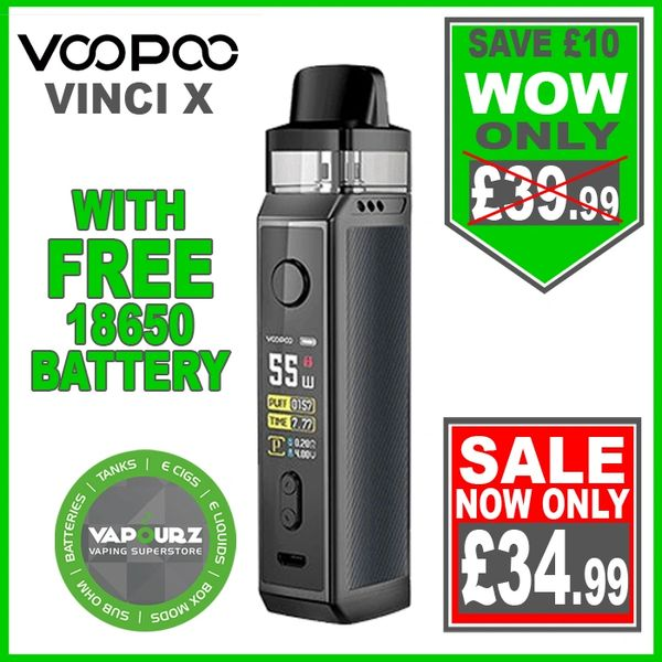 Voopoo Vinci X Kit Space Grey Plus FREE 18650 Battery