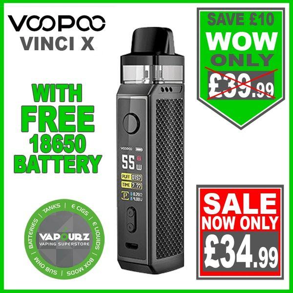 Voopoo Vinci X Kit Carbon Fiber Plus FREE 18650 Battery
