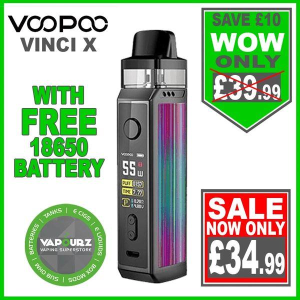 Voopoo Vinci X Kit Aurora Plus FREE 18650 Battery