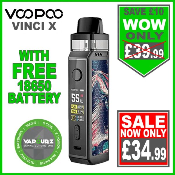 Voopoo Vinci X Kit Teal Blue Plus FREE 18650 Battery