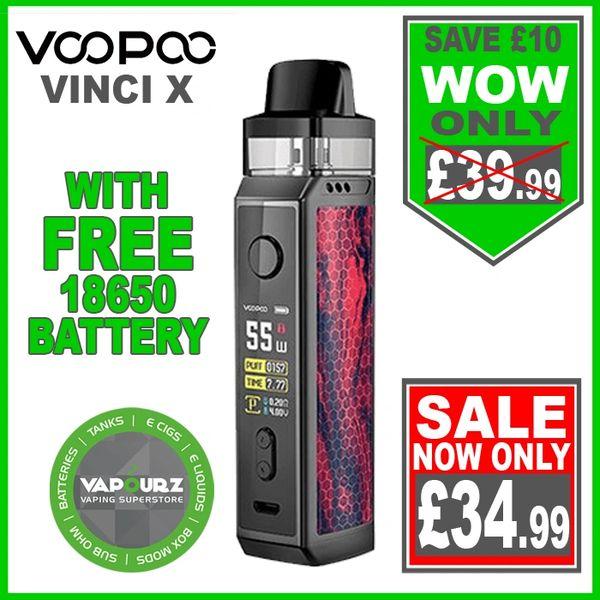 Voopoo Vinci X Kit Scarlet Plus FREE 18650 Battery