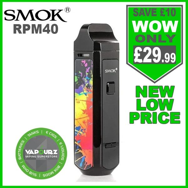 SMOK RPM 40 Kit PET Black and 7 Colour