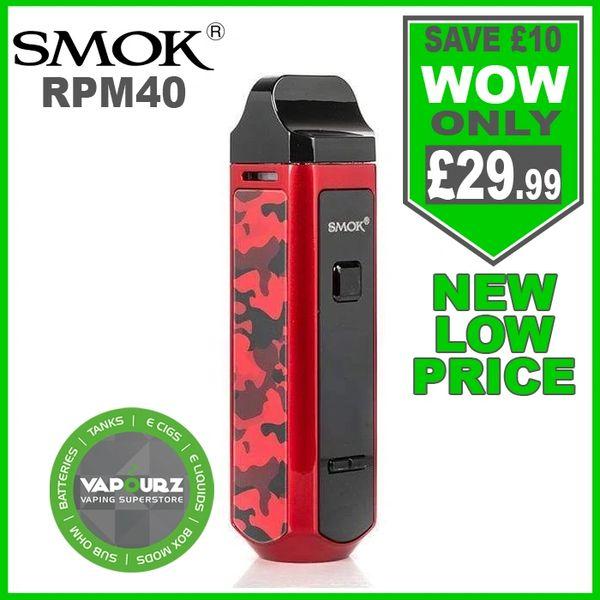 SMOK RPM 40 Kit Red Camoflage