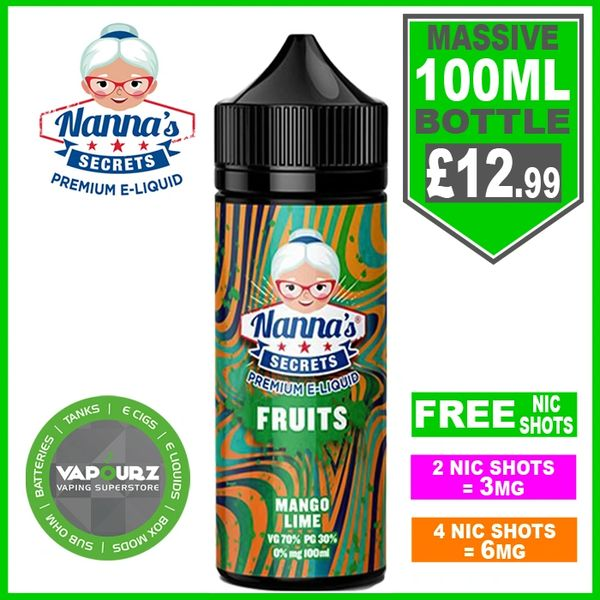 Nannas Secrets Fruits Mango Lime 100ml