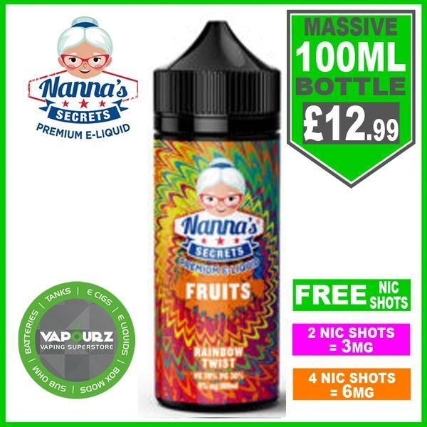Nannas Secrets Fruits Rainbow Twist 100ml