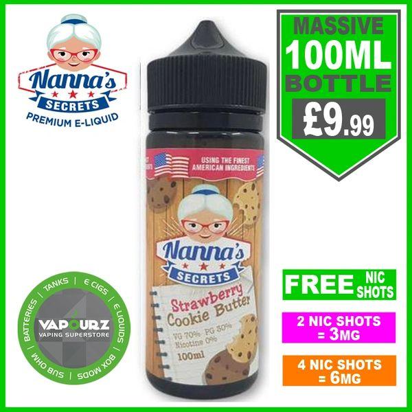 Nannas Secrets Strawberry Cookie Butter 100ml