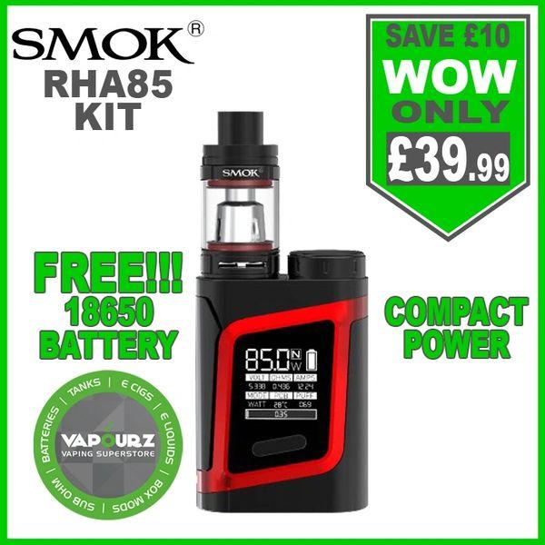 Smok RHA85 Kit Black Red & FREE!!! 18650 Battery