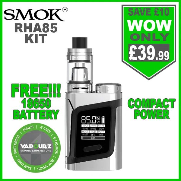 Smok RHA85 Kit Prism Chrome & FREE!!! 18650 Battery