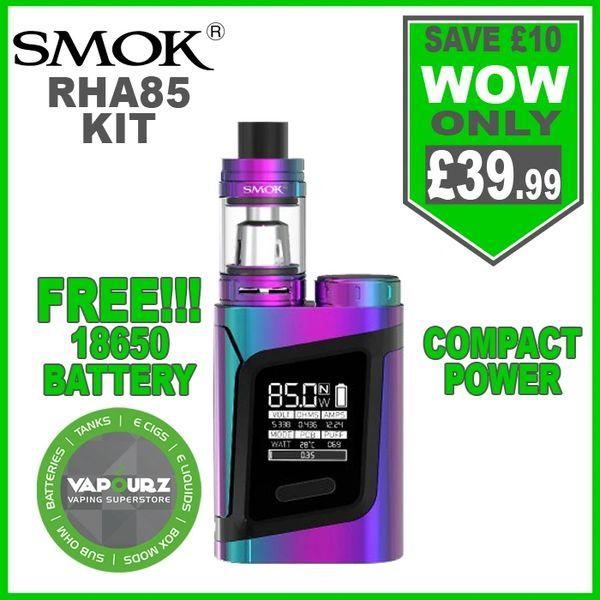 Smok RHA85 Kit 7-Colour Black & FREE!!! 18650 Battery