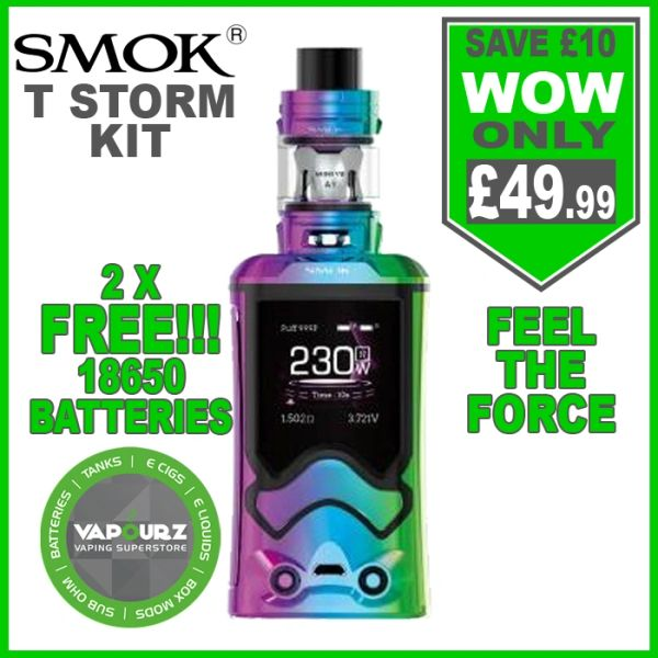 Smok T-Storm Kit 7 Colour with 2 x FREE 18650 Batteries