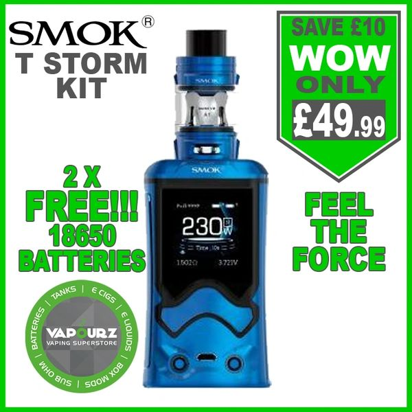 Smok T-Storm Kit Prism Blue with 2 x FREE 18650 Batteries