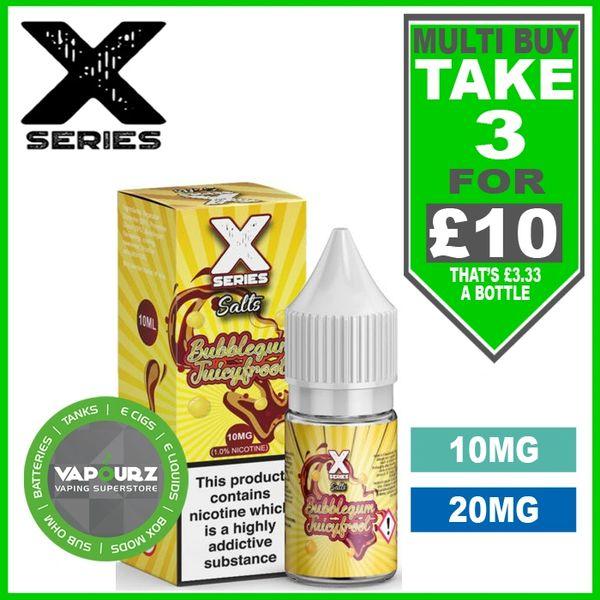 Bubblegum Juicyfroot X Series Salts 10mg/20mg