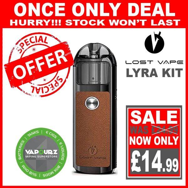 Lost Vape Lyra Pod Kit Black - Leather