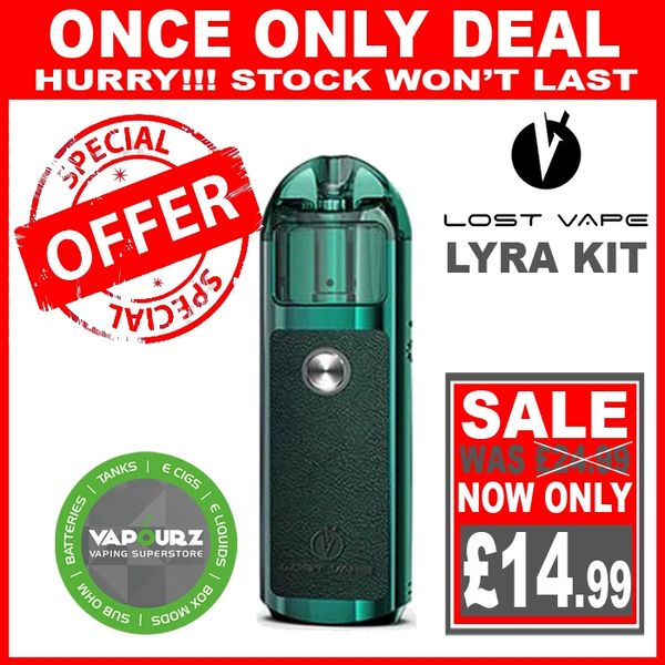 Lost Vape Lyra Pod Kit Green - Leather