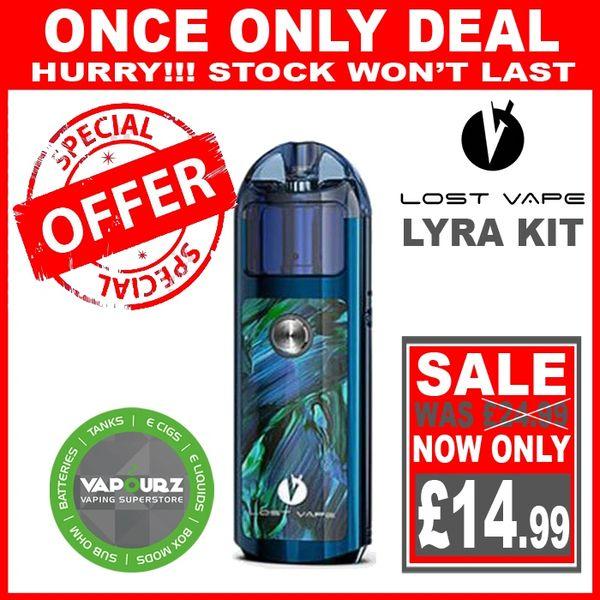 Lost Vape Lyra Pod Kit Blue - Ripple