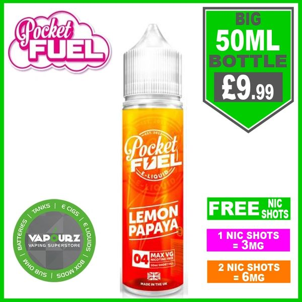 Pocket Fuel Lemon Papaya 50ml