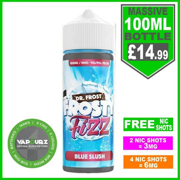 Dr Frost Frosty Fizz Blue Slush 100ml + FREE Nic shots