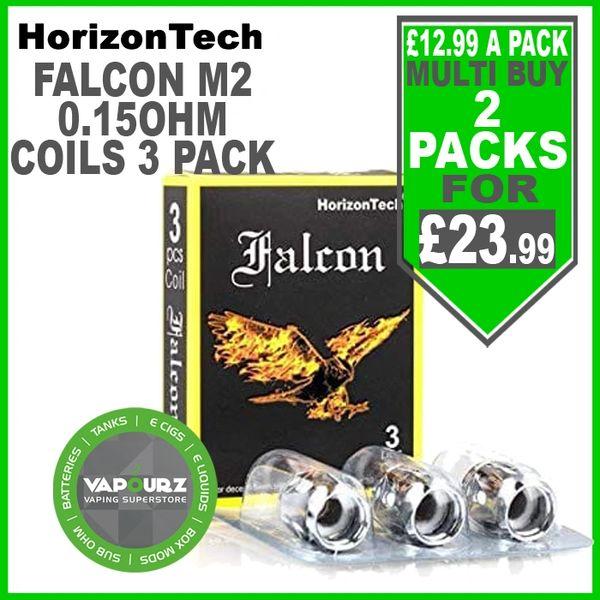 Horizontech M2 Falcon Coils 0.15ohm 3 Pack