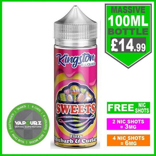 Fizzy Rhubard & Custard Sweets Kingston 100ml