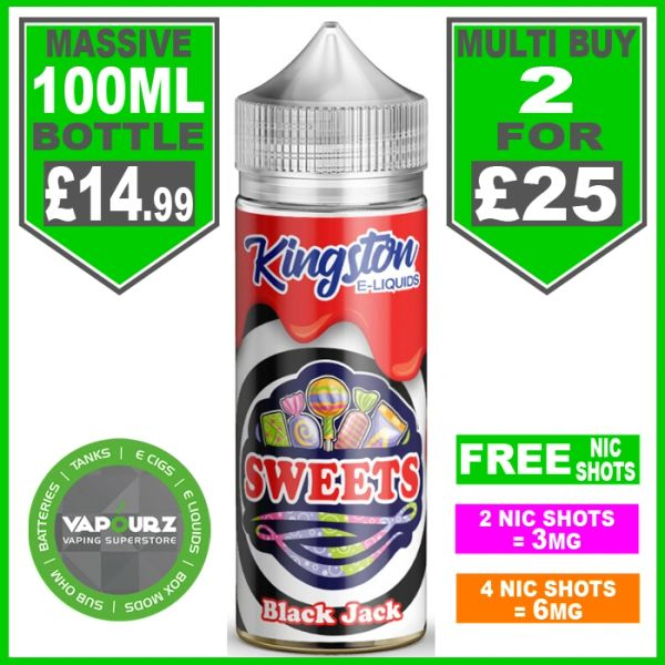 Black Jack Sweets Kingston 100ml