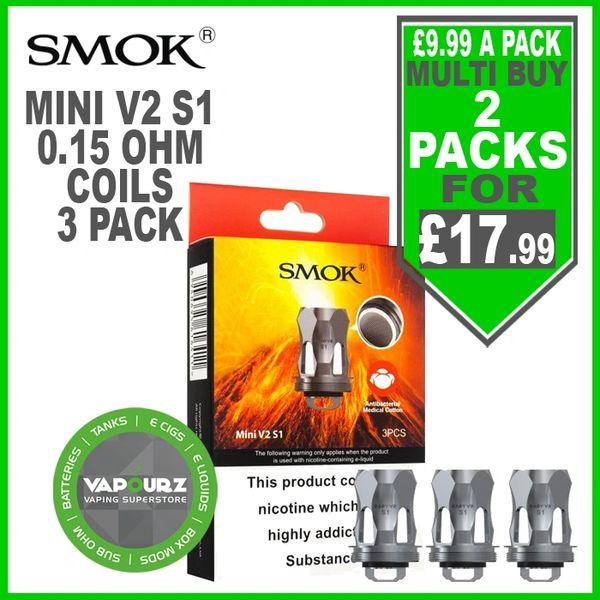 Smok Pack of 3 Mini V2 S1 Coils