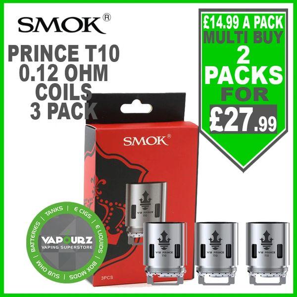 Smok Pack of 3 Prince TFV12 T10 coils