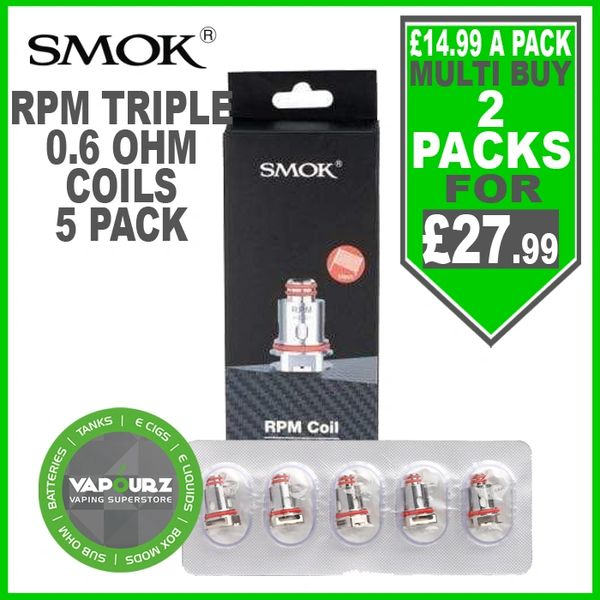 Smok RPM Triple 0.6ohm Coils Pack of 5