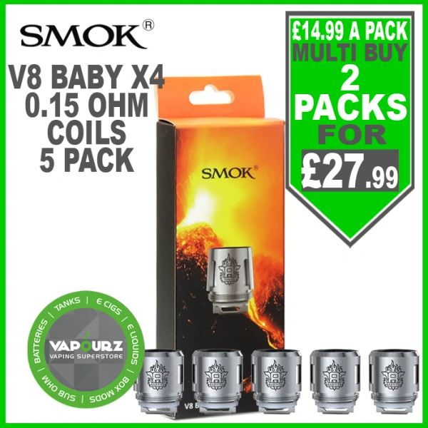 Smok TFV8 Baby Beast Coils X4 (5 Pack) 0.15ohm