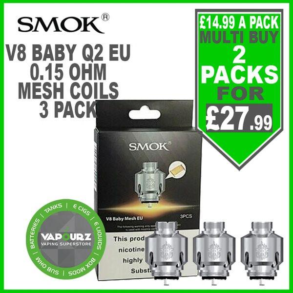 Smok V8 Baby Mesh EU Coils Resa Stick (3 Pack)