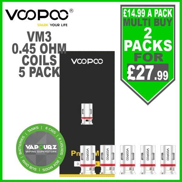 Voopoo pnp VM3 Coils 0.45ohm 5 Pack